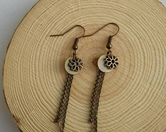 Earrings chain Hook Vintage Style