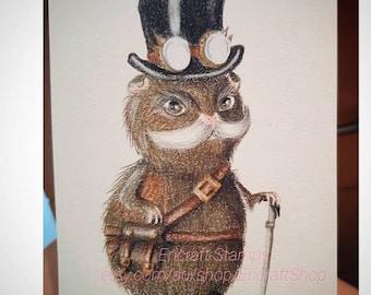 Digital Stamp - Sir Guinea Pig - 300dpi jpeg file by Erica Bruton