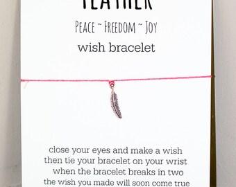 Feather Wish Bracelet