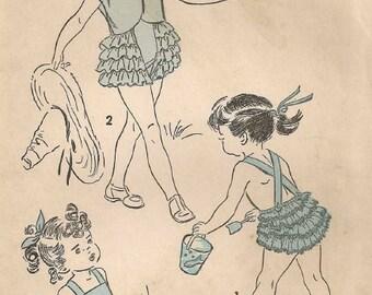 Vintage 1950's Ruffle Bum Sunsuit Pattern