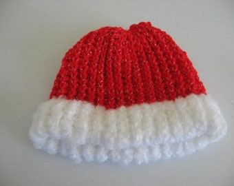 Red and White puffy brim hat
