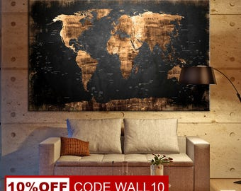 abstract world map large world map canvas world map world map art canvas