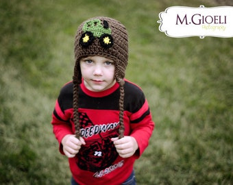 Tractor Hat - Farming photo prop, baby tractor hat, crochet tractor hat, tractor photo prop, newborn tractor prop