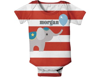 Circus Baby Bodysuit, Personalized Infant Carnival Birthday SnapShirt, Custom Onepiece Baby Clothing, Boy's One Piece