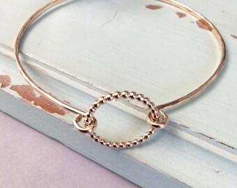 Beaded Bangle, dainty bangle, delicate minimal bangle, thin gold bangle, layering bangle