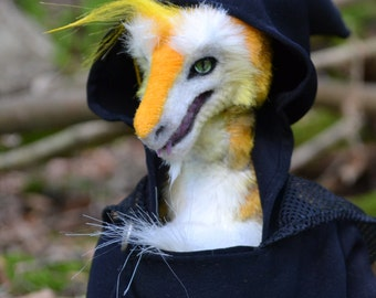 Sergal Oscar Anthropomorphic Unique Handmade Furry Art Doll OOAK
