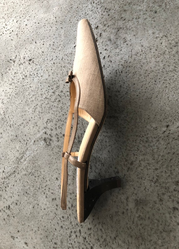 8 Taupe made Y2K Fabric Mule Isaac Italy in 5 Slide Mizrahi rrnFzgqcE