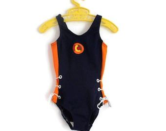 Toddler Swimsuit, Vintage Swimsuit, Little Girls Swimsuit, Girls Swimsuit, Girls Swimming Costume