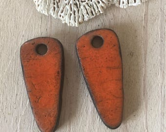 Raku ceramic charm set