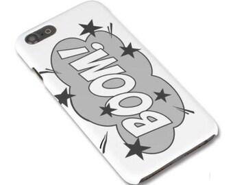 Superhero Phone Case, Monochrome Phone Case, Personalised Phone Case, Phone Case iPhone, Phone Case Samsung, Comic Book Phone Case, Pop Art