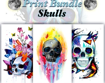 Big Skull Print Bundle -Get these 6 prints and save money-