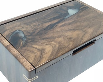 Jewelry Box, Keepsake Box, Trinket Box, Wood Jewelry Box, Wood Keepsake Box, Wood Trinket Box, Walnut Jewelry Box, Handmade Jewelry Box