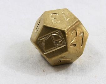 Zucati EleMetal™: Fibonacci Golden Spiral - Brass