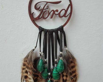Ford Car Decor, Personlized Car Mirror accessories, Malachite Car Decor, Malachite Jewelery, Gift For Ford Owner And Lover,Small Dreamcacher