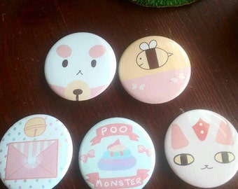 Bee and Puppycat Pin Set