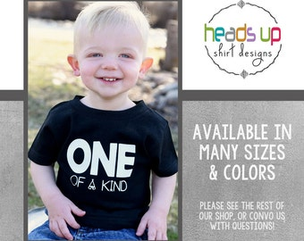 One birthday - one of a Kind Toddler Boy/Girl Shirt - 1st Birthday Baby - First Bday Shirt Baby Boy/Girl - 1 Bday tshirt - Trendy - hipster