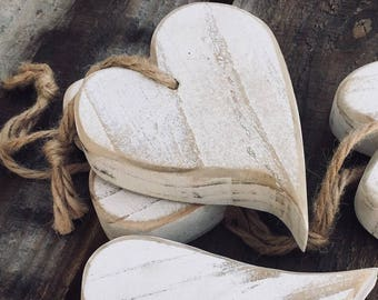 One wooden heart