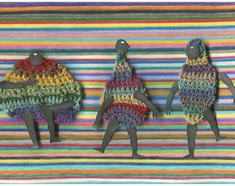 Limited Edition Print A4 size - Colorful dance   1/50