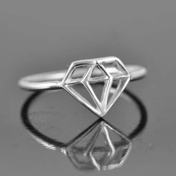 diamond ring diamond shaped ring wedding ring promise ring