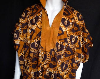 SALE! Spirit World Poncho© African Wax Print, Dashiki, Caftan, Menswear, Festival Clothing