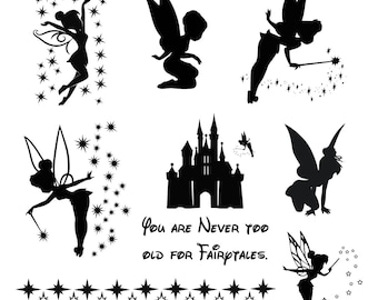 Tinkerbell svg Tinkerbell clipart Tinker Bell svg Disney files silhouette digital  svg eps png dxf