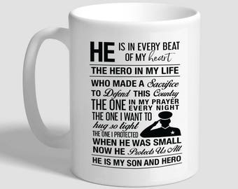 He Is In Every Beat Of My Heart, Veteran Son, Gift For Veteran, Army Veteran, Navy Veteran, Marines Vet, Military Gift, Air Force Vet,