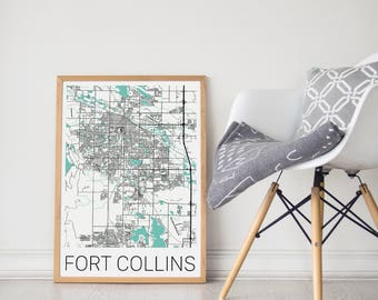 Fort collins map Etsy