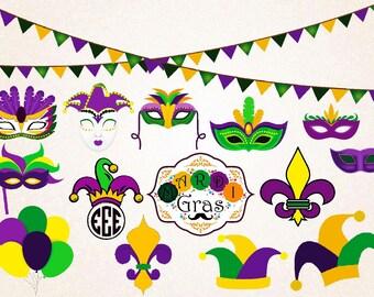 Mardi Gras SVG,png,eps/mardi gras monogram/jester crown/fleur de lis/joker hat/mardi gras mask/baloons/mardi gras decoration/mardi costume