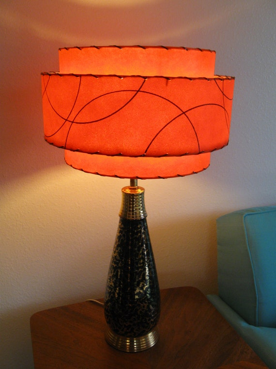 Superb Made To Order Mid Century Vintage Style 3 Tiered Fiberglass Lamp Shade  Custom Retro Atomic