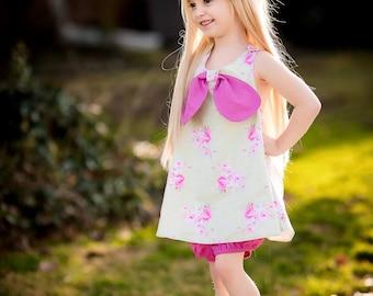 Sets for Girls - Pinafore Set - Girls Pinafore - Toddler Pinafore - Girls Clothing Sets - Toddler Set - Summer Clothing Set - Handmade Set