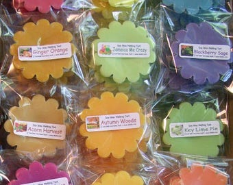 Soy Wax Tarts Melts, Set of 10, You pick 5 scents