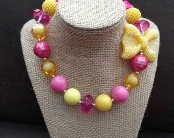 Chunky Pink Lemonade Necklace