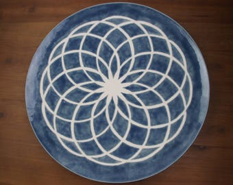 Torus Platter in Denim Blue