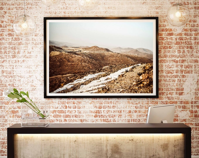Fine Art Photography - The mountains of Matmata - Tunisia - Wall decoration - Travel