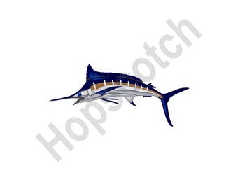 Blue Marlin - Machine Embroidery Design