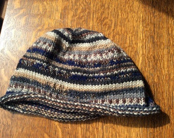 Hand made knit adult hat
