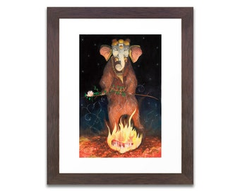 Vernus: Signed Limited Edition Print of 20. Dancing Elephant Bear