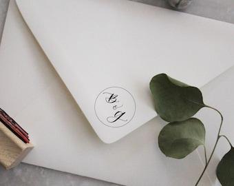 Custom Monogram Calligraphy Stamp