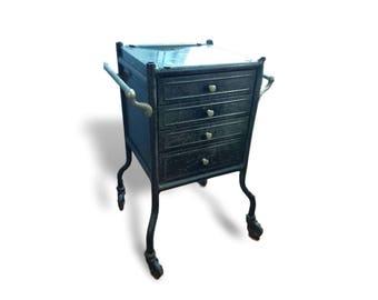 Antique Medical Cabinet   Metal Cabinet   Vintage Medical