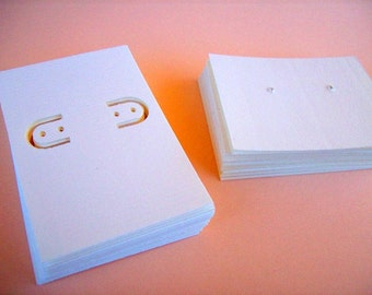 Earring cards, post earring cards, set of 60, lever back and post, printed jewelry cards