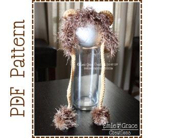 Crochet Lion Hat Pattern, Mane Bonnet, LIL' LION HEART - pdf 132