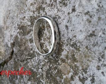 Custom Made Mens Ring, Plain Band Ring, Sterling Silver Ring