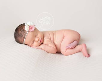 Baby Flower Headband, Pink Baby Headband, Peach Baby Headband, Baby Flower Headband, Felt Flower Headband, Baby Felt Headband, Felt Flower