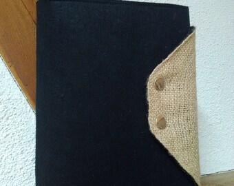 A5 Organizer: Felt & fabric bag