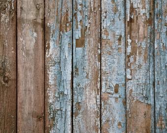 NEW Wrinkle Free, GLARE Free FABRIC, Blue Grunge Wood, Photography Backdrop