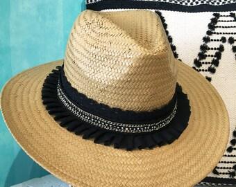 Panama Hat |Beach hat |Straw beach hat |Sun hat |Chapeau paille |Strohhut |Boho chic hat