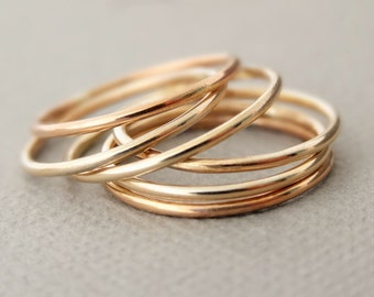SUPER Thin Gold Rings Rose Gold Ring or Gold Ring - thumb ring - midi ring - pinky ring rose gold jewellery australia