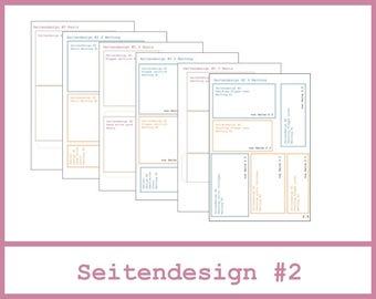 6x4 Mini Album - Anleitung - Seitendesign #2 - Seiten 2.0 bis 2.6