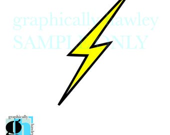 SVG Lightening Bolt Digital Image