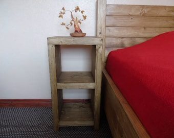 BRAND NEW Handmade Rustic Wooden Bedside Table - Many Colours and Sizes